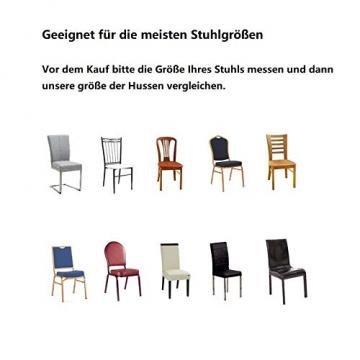 Littleprins Stuhlhussen 6er Set Stuhlbezug elastische Hussen für Stühle Schwingstühle Stretch Stuhlüberzug für Esszimmer Stuhl Hochzeit Partys Bankett (lila) - 7