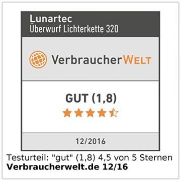 Lunartec Lichterkette Christbaum: Weihnachtsbaum-Überwurf-Lichterkette mit 8 Girlanden & 320 LEDs, IP44 (Weihnachtsbaumbeleuchtung) - 7