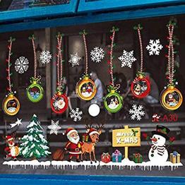 MEISHANG Fensterfolie Weihnachten,Fensteraufkleber Weihnachten,Weihnachten Fensterdeko Selbstklebend,Fensteraufkleber PVC,Fensterbilder Weihnachten,Weihnachten Deko Fenster - 1