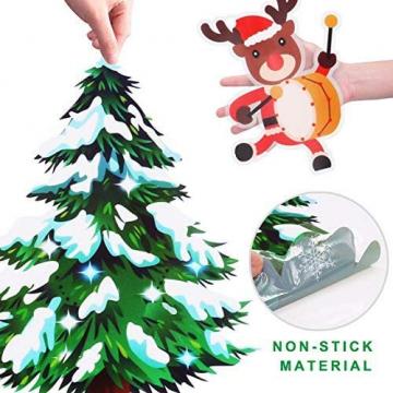 MEISHANG Fensterfolie Weihnachten,Fensteraufkleber Weihnachten,Weihnachten Fensterdeko Selbstklebend,Fensteraufkleber PVC,Fensterbilder Weihnachten,Weihnachten Deko Fenster - 6