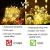 Mitening LED USB Lichtervorhang 3m x 3m, 300 LED Lichterkettenvorhang mit 8 Modi Lichterkette Gardine für Schlafzimmer Partydekoration Innenbeleuchtung Weihnachten Deko Warmweiß, Energieklasse A+++ - 4