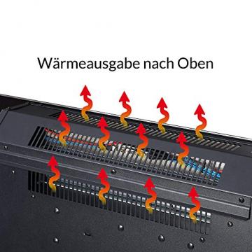 Monzana Wandkamin Elektrokamin Heizlüfter Head Up Display 1500W / 1800W Thermostat Fernbedienung Timer Dimmbar Kaminofen Kamin - 7