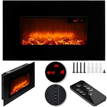 Monzana Wandkamin Elektrokamin Heizlüfter Head Up Display 1500W / 1800W Thermostat Fernbedienung Timer Dimmbar Kaminofen Kamin - 8