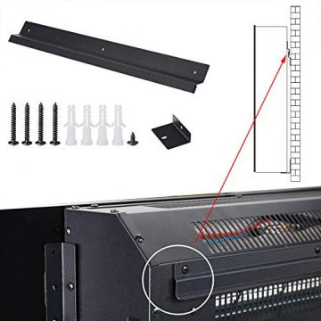 Monzana Wandkamin Elektrokamin Heizlüfter Head Up Display 1500W / 1800W Thermostat Fernbedienung Timer Dimmbar Kaminofen Kamin - 9
