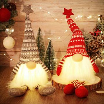 MTaoyac Weihnachten Deko Wichtel 49 cm Hoch, Schwedischen Weihnachtsmann Santa Tomte Gnom, Festliche Verpackung, Skandinavischer Zwerg Geschenke für Kinder Familie Weihnachten Freunde(2 Stücke) - 1