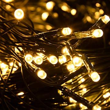 NAIZY 6 x 4 m LED Lichternetz, Lichtervorhang Lichterkette Deko Leuchte für Innen und Außen Party Weihnachten Hochzeit - 672 LEDs Warmweiß - 8