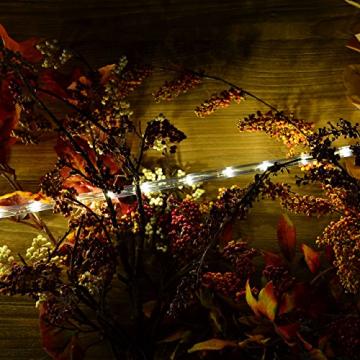 Nipach GmbH 20m 480 LED Lichterschlauch Lichtschlauch warm-weiß – Innen- und Außenbereich – energiesparende Leucht-Dekoration für Garten Fest Weihnachten Hochzeit Gesamtlänge ca. 21,50 m - 3