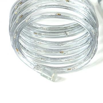 Nipach GmbH 20m 480 LED Lichterschlauch Lichtschlauch warm-weiß – Innen- und Außenbereich – energiesparende Leucht-Dekoration für Garten Fest Weihnachten Hochzeit Gesamtlänge ca. 21,50 m - 5