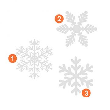 NOCHME Schneeflocken Fensterdeko Weihnachten, 108 PCS Statische Fensteraufkleber für Fenster, Fensterbild, Weihnachtsfensterbilder, Weihnachtsdeko, Fensterbilder, Fensterfolie PVC-Aufkleber (Weiß) - 3