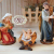 ÖLBAUM-Krippe KS70ng-MF-SKR- XXL Holz-Weihnachtskrippe, mit GRANITBRUNNEN Wassergrand + Premium-DEKOSET Krippenstall, Massivholz edel GEFLAMMT - mit 12 x Premium- Krippenfiguren + Engel mit - 3