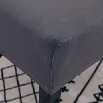 Padgene Universal Stretch Stuhlhussen, Abnehmbare Stuhlbezug Sitz Stuhl Esszimmer überzug Stuhlüberzu Abdeckungen Hussen für Husse Hotel Party Bankett (Grau, 4er Set) - 6