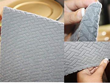 Qishare Stuhlhussen 4 Stück Stuhlbezug Abnehmbare Stretch Elastische Universal Waschbar Anti-Staub Parsons Stuhl Sitz Schutzhülle für Esszimmer, Hotel, Zeremonie, Hochzeit, Party (schwarz) - 9