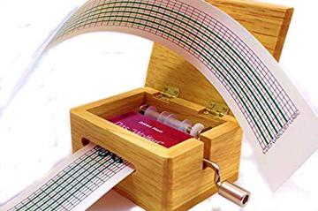 Schaepers Kaleidoskope Spieluhr / mit Lochstreifen / zum Selbstkomponieren / aus Holz - 1