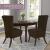 SCHEFFLER-Home Stretch Stuhlhusse Jacquard Lea | 2er Set elastische Stuhlabdeckungen | Stuhlhussen Schwingstühle | Spannbezug mit Gummiband | Elegante Stuhlbezüge, Braun - 3