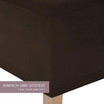 SCHEFFLER-Home Stretch Stuhlhusse Lena, 2er Set elastische Stuhlabdeckungen, Stuhlhussen Schwingstühle, Spannbezug mit Gummiband, Elegante Stuhlbezüge - 2