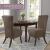 SCHEFFLER-Home Stretch Stuhlhusse Leon | 2er Set elastische Stuhlabdeckungen aus Wildleder | Stuhlhussen Schwingstühle | Spannbezug mit Gummiband | Elegante Stuhlbezüge - 3