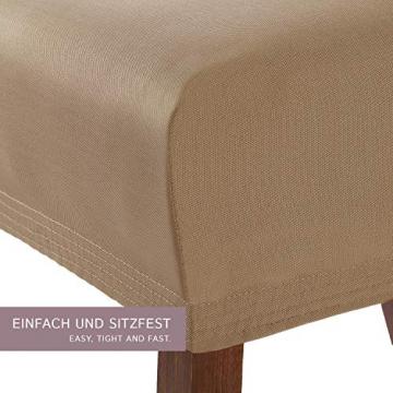 SCHEFFLER-Home Stretch Stuhlhusse Marie | 2er Set elastische Stuhlabdeckungen mit Fleckschutz | Stuhlhussen Schwingstühle | Spannbezug mit Gummiband | Elegante Stuhlbezüge - 2