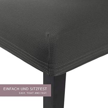 SCHEFFLER-Home Stretch Stuhlhusse Mia | 2er Set elastische Stuhlabdeckungen | Stuhlhussen Schwingstühle | Mikrofaser Spannbezug mit Gummizug | Elegante Stuhlbezüge - 2