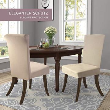 SCHEFFLER-Home Stretch Stuhlhusse Natalie   2er Set elastische Stuhlabdeckungen aus Baumwolle   Stuhlhussen Schwingstühle   Spannbezug mit Gummiband   Elegante Stuhlbezüge - 3