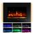 Sekey Home Elektrokamin | Deko-Kamin | Wandkamin mit Heizlüfter | Thermostat | Wochentimer | LED-Beleuchtung | 3D Flammeneffekte | 7 Flammenfarben | Fernbedienung | Geräuscharm | Wandmontage | Schwarz - 3