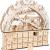 small foot 11789 Adventskalender Skivergnügen aus Holz mit 24 Schubladen, Weihnachtspyramide mit LED-Beleuchtung, Weihnachtsdeko Deko, Mehrfarbig, normal - 2