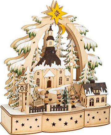 small foot 11791 Lampe Sternsinger aus Holz, Weihnachtsdeko batteriebetrieben mit LED-Beleuchtung und Weihnachtspyramide Deko, Mehrfarbig, normal - 2