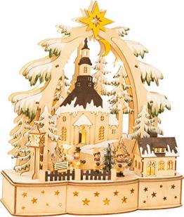 small foot 11791 Lampe Sternsinger aus Holz, Weihnachtsdeko batteriebetrieben mit LED-Beleuchtung und Weihnachtspyramide Deko, Mehrfarbig, normal - 1