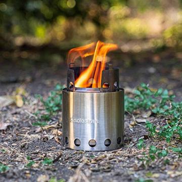 Solo Stove Camping Holzofen für Backpacker - Ultraleichtes, kompaktes Design, perfekt für Überlebenstraining, Camping, Jagd & Vorbereitung auf Notfälle - 6