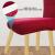Speedsporting Stuhlhussen Stretch Abnehmbare Waschbar Stuhlbezug für Esszimmerstühle Elastische Set Stuhlabdeckung Moderne Beschützer Husse Stuhlüberzug Mit Gummiband (Bordeaux, 6er) - 3