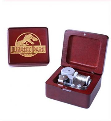 Spieluhr Handgefertigt Aus Holz Jurassic Park Spieluhr Geburtstagsgeschenk FürWeihnachten, Geburtstag, IndividuellGravierte Personalisierte Geschenk - 3