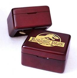 Spieluhr Handgefertigt Aus Holz Jurassic Park Spieluhr Geburtstagsgeschenk FürWeihnachten, Geburtstag, IndividuellGravierte Personalisierte Geschenk - 1