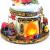 Wichtelstube-Kollektion XL LED Schneekugel Bescherung elektrischer Schneewirbel, viele Melodien und Farbwechsel Glitzerkugel - 3