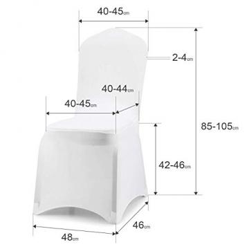 wolketon Stuhlhussen 6 Stück Universell Stuhlbezüge Elastik Moderne Stuhl Abdeckung Weiß - 7