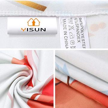YISUN Universal Stretch Stuhlhussen 4er 6er Set Stuhlbezug für Stuhl Esszimmer (6er Set, Weihnachten) - 4