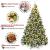 Yorbay künstlicher Weihnachtsbaum mit Beleuchtung weiß Schnee LED Tannenbaum für Weihnachten-Dekoration (210CM) - 4