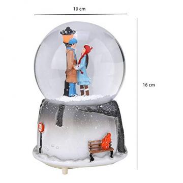 Yosoo Schneekugel Musikalische Neuheit Nachtlicht Musikalische Schneekugel Spieluhr Desktop Ornament Tochter Kind Belohnung Familienspielzeug feiern - 2