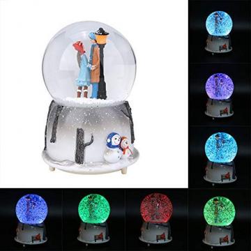 Yosoo Schneekugel Musikalische Neuheit Nachtlicht Musikalische Schneekugel Spieluhr Desktop Ornament Tochter Kind Belohnung Familienspielzeug feiern - 3