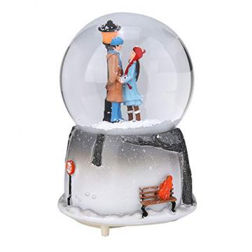 Yosoo Schneekugel Musikalische Neuheit Nachtlicht Musikalische Schneekugel Spieluhr Desktop Ornament Tochter Kind Belohnung Familienspielzeug feiern - 1