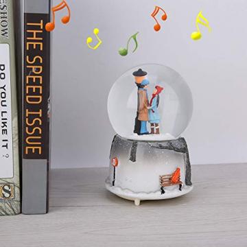 Yosoo Schneekugel Musikalische Neuheit Nachtlicht Musikalische Schneekugel Spieluhr Desktop Ornament Tochter Kind Belohnung Familienspielzeug feiern - 5
