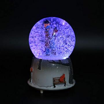 Yosoo Schneekugel Musikalische Neuheit Nachtlicht Musikalische Schneekugel Spieluhr Desktop Ornament Tochter Kind Belohnung Familienspielzeug feiern - 8