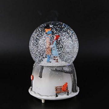 Yosoo Schneekugel Musikalische Neuheit Nachtlicht Musikalische Schneekugel Spieluhr Desktop Ornament Tochter Kind Belohnung Familienspielzeug feiern - 9