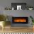 GLOW FIRE Elektrokamin mit Heizung, Wandkamin mit LED | Künstliches Feuer mit zuschaltbarem Heizlüfter: 750/1500 W | Fernbedienung (Größe L - 126 cm, Schwarz) - 3