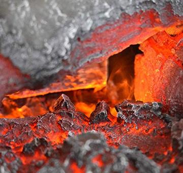 GLOW FIRE Elektrokamin mit Heizung, Wandkamin und Standkamin mit LED | Künstliches Feuer mit zuschaltbarem Heizlüfter: 1000/2000 W | Fernbedienung, Dimmer, Weiß | modern - 5