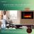 Heidenfeld Wandkamin Elektrisch HF-WK100 mit Fernbedienung - 3 Jahre Garantie - 1000 oder 2000 Watt - Flammensimulation - Heizthermostat - Kaminofen Elektrokamin Kaminfeuer (WK100C Flach Steinoptik) - 3