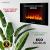 Heidenfeld Wandkamin Elektrisch HF-WK100 mit Fernbedienung - 3 Jahre Garantie - 1000 oder 2000 Watt - Flammensimulation - Heizthermostat - Kaminofen Elektrokamin Kaminfeuer (WK100C Flach Steinoptik) - 4