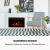 Klarstein Blanca Elektrischer Kamin Elektrokamin, 1000/2000 W, LED-Flammenillusion, Fernbedienung, Thermostat: 10-30 °C, Wochentimer, Open Window Detection, Überhitzungsschutz, MDF-Gehäuse, weiß - 2