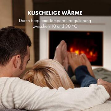 Klarstein Blanca Elektrischer Kamin Elektrokamin, 1000/2000 W, LED-Flammenillusion, Fernbedienung, Thermostat: 10-30 °C, Wochentimer, Open Window Detection, Überhitzungsschutz, MDF-Gehäuse, weiß - 7
