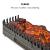 Klarstein Kamini - elektrischer Kamin, E-Kamin, Elektro-Kamin, Kamineinsatz, glimmende Holzscheite, stimmungsvolle Beleuchtung und/oder Wärmequelle, 1000/2000 Watt, 65 x 22 x 23 cm (BxHxT), schwarz - 3