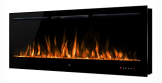 "Noble Flame Paris Schwarz 1660 (166 cm / 65"") - Elektrokamin Wandkamin Kaminofen Kamin - Wandmontage Fernbedienung - 14,5 cm Einbautiefe - 1"