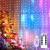 Yizhet Lichtervorhang 3x3m LED Lichterkette LED Lichterkettenvorhang mit 8 Modi, IP44 Wasserdicht Deko für Weihnachten, Partydekoration, Innenbeleuchtung (300LED, Bunt) - 1